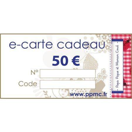 Carte cadeau 50,00 €