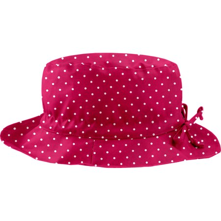 Rain hat adjustable-size 2  fuschia spots