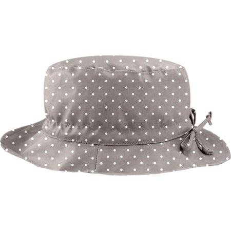 Rain hat adjustable-size 2  light grey spots