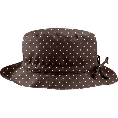 Rain hat adjustable-size 2  brown spots