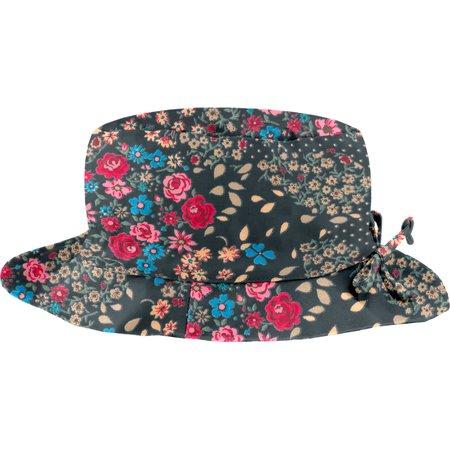 Chapeau pluie ajustable T2  rose argentée
