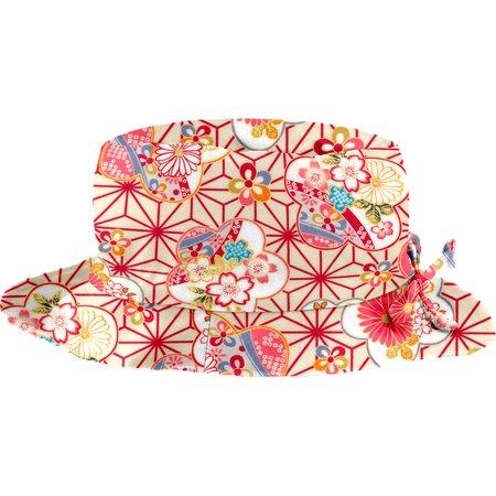 Chapeau pluie ajustable T3  origamis fleuris