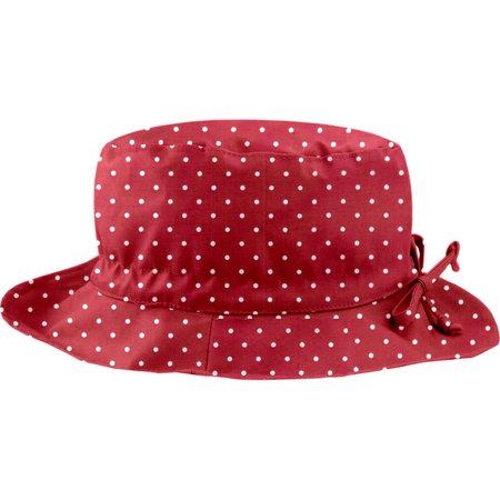 Chapeau pluie ajustable T3 pois rouge