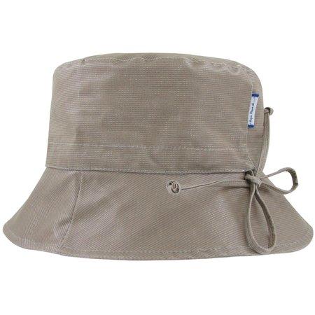 Chapeau pluie ajustable T3 taupe argent