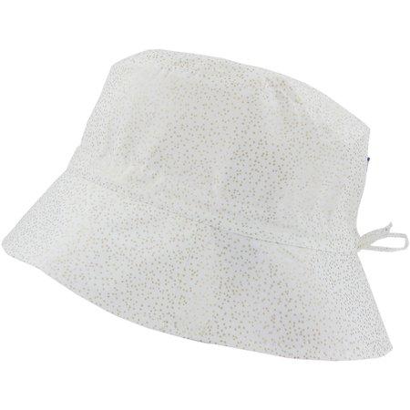 Chapeau de soleil ajustable T1 à T2  blanc pailleté