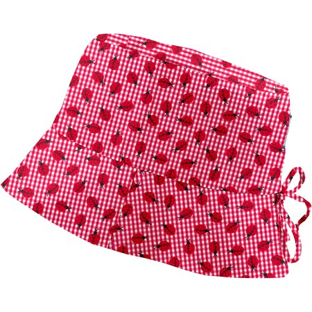 Chapeau de soleil ajustable T1 à T2 vichy coccinelle
