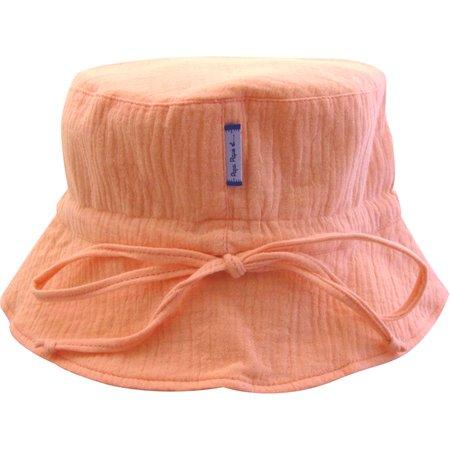 Chapeau de soleil enfant gaze rose