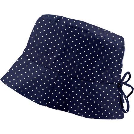 Chapeau de soleil ajustable T3 pois marine