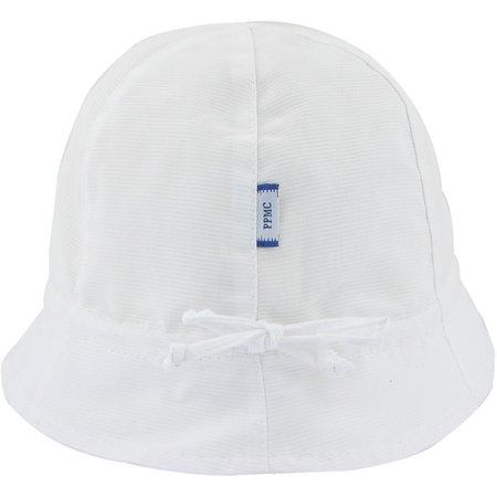 Chapeau soleil charlotte ajustable blanc