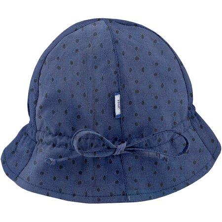 Chapeau soleil charlotte broderie anglaise marine