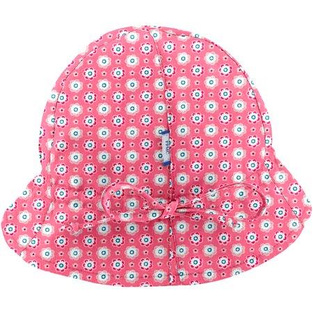 Chapeau soleil charlotte ajustable  fleurette blush