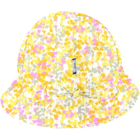 Chapeau soleil charlotte mimosa jaune rose
