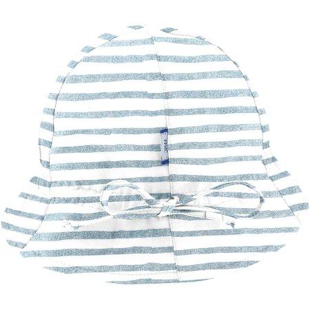 Chapeau soleil charlotte rayé bleu blanc