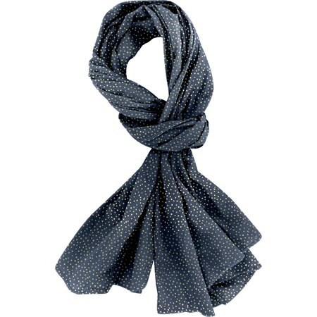 Shawl navy gold star