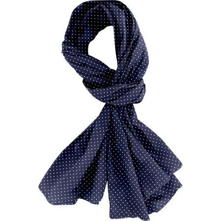 Shawl navy blue spots