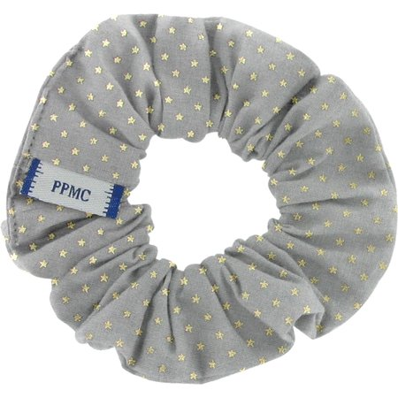 Small scrunchie etoile or gris