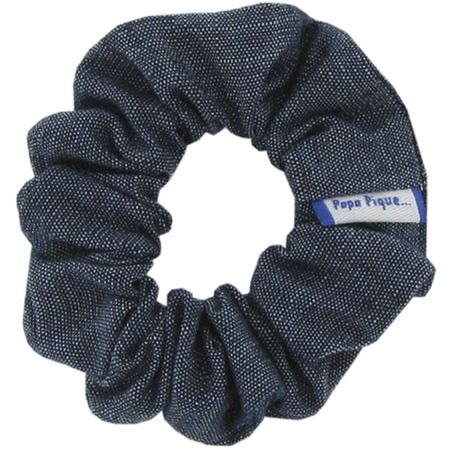 Small scrunchie light denim