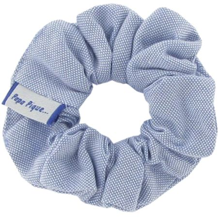 Small scrunchie oxford blue