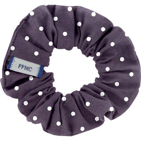 Small scrunchie plum spots