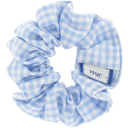 Small scrunchie sky blue gingham