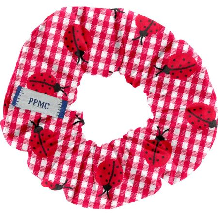Small scrunchie ladybird gingham