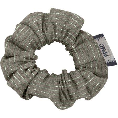 Mini Scrunchie khaki lurex gauze