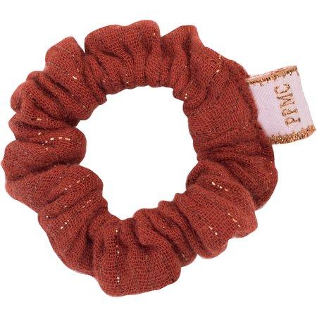 Mini Chouchou gaze lurex terracotta