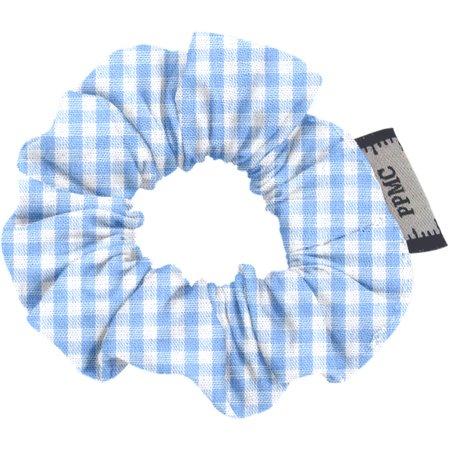 Mini Scrunchie sky blue gingham