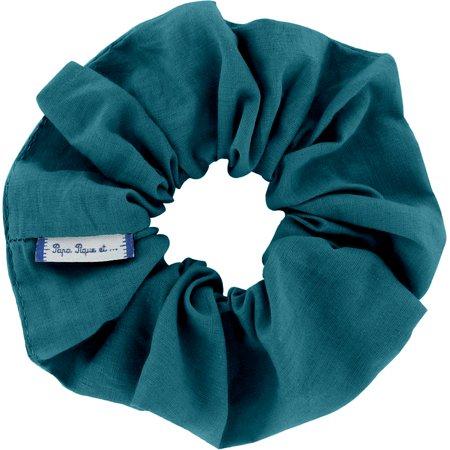 Chouchou bleu vert