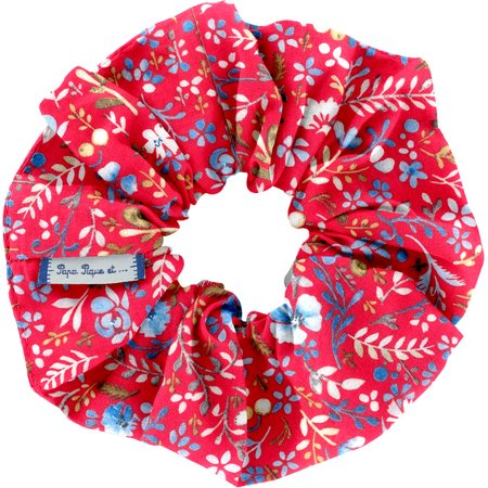 Scrunchie cherry cornflower