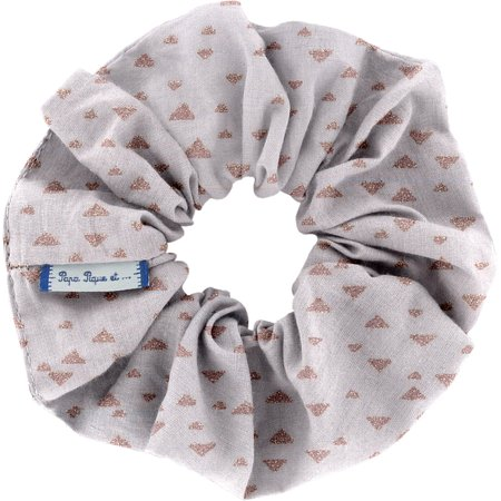 Scrunchie triangle cuivré gris