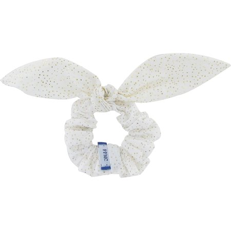 Bunny ear Scrunchie white sequined