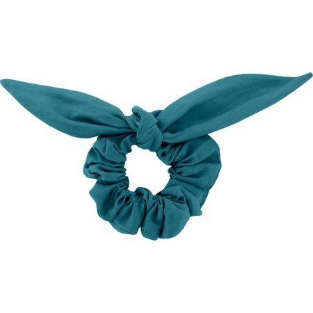 Bunny ear Scrunchie bleu vert