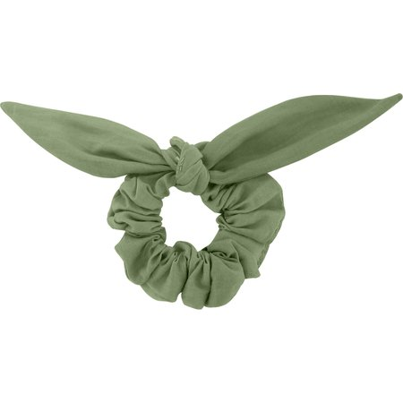 Chouchou nœud  gaze vert sauge