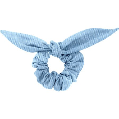 Bunny ear Scrunchie oxford blue