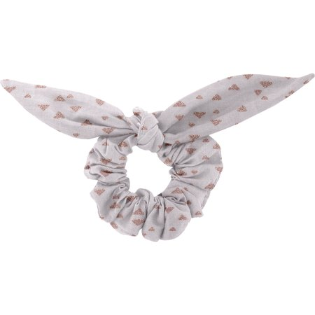 Bunny ear Scrunchie triangle cuivré gris