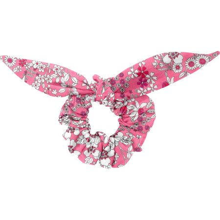 Chouchou nœud  violette rose