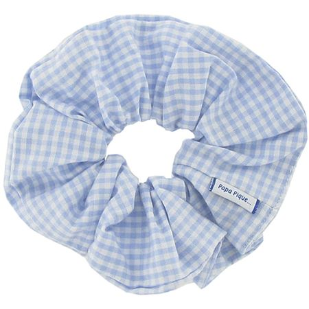 Scrunchie sky blue gingham
