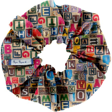 Scrunchie multi letters