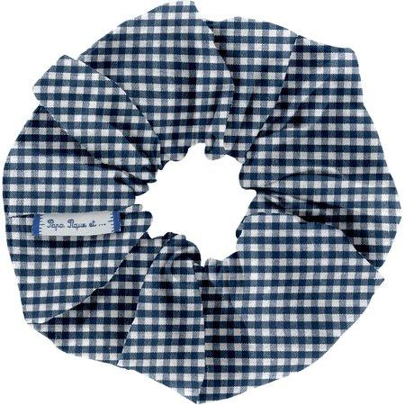 Scrunchie navy blue gingham