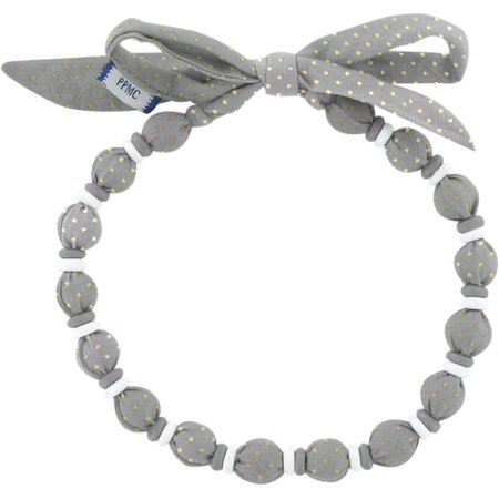 Collier coco etoile or gris