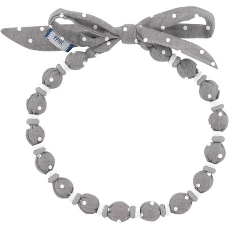 Chlidren necklace light grey spots