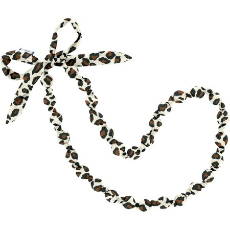 Fabric necklace leopard print