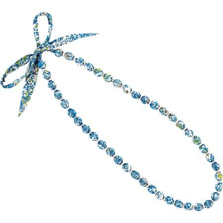 Collier sautoir perles forêt bleue