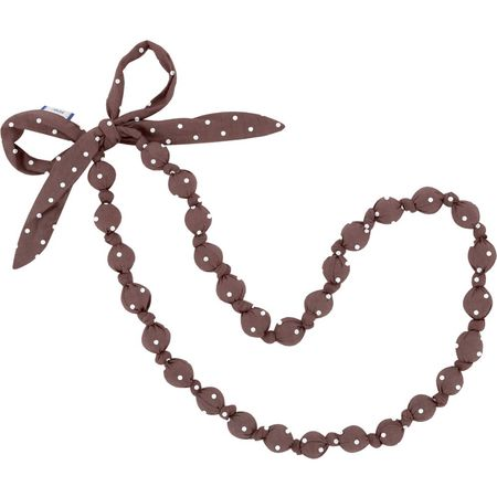 Collier sautoir pois marron