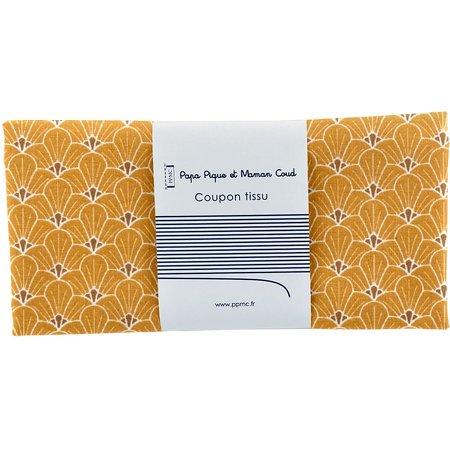 Coupon tissu 50 cm graphique ocre ex1077