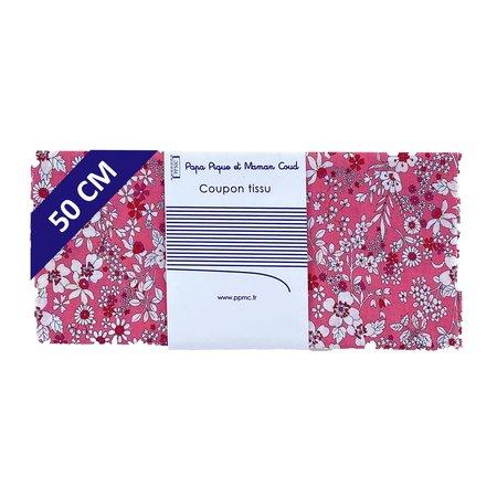 Coupon tissu 50 cm violette rose