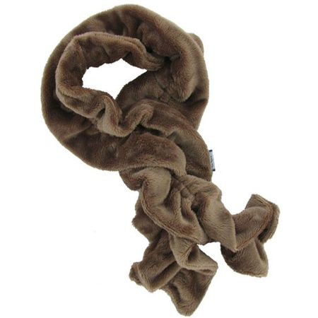Twisted fleece scarf camel