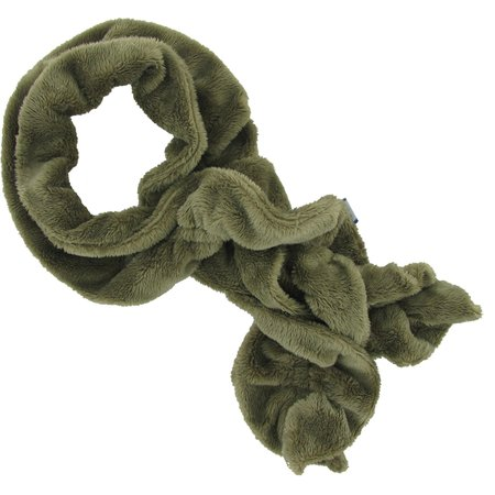 Twisted fleece scarf kaki