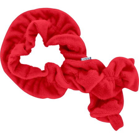 Twisted fleece scarf red